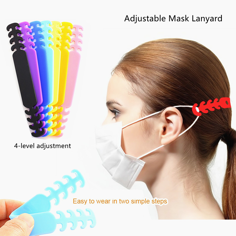 2020 Adjustable Mask Extension Bandage Mask Hook Ear Rope Unisex Mask Extension Belt Relieves Ear Pain Prevention Mask Lanyard