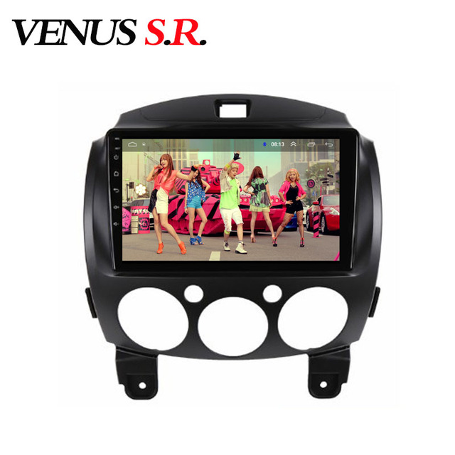 VenusSR Android 8.1 2.5D voiture dvd pour Mazda 2 Radio 2007-2012 multimédia GPS Radio stéréo gps navigation