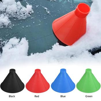 Plastic Cone Shaped Car Windshield Snow Remover Shovel Ice Scraper Outdoor Windows Glass Cleaning Tool Funnel for winter image