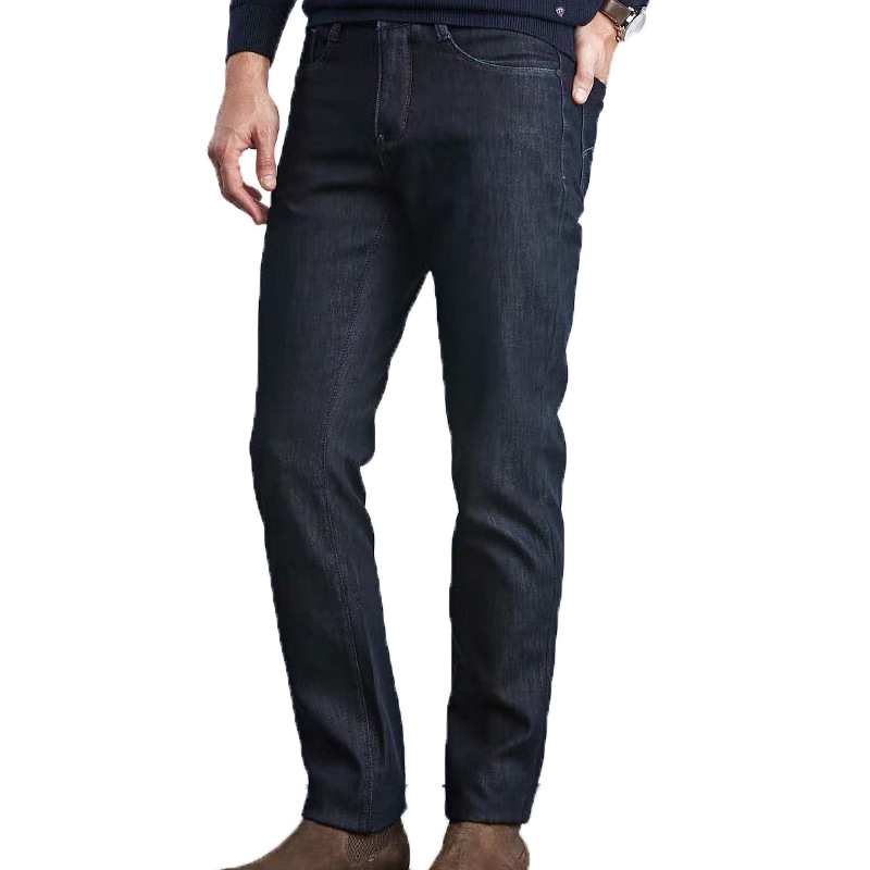 MEN'S Jeans Men's Brushed And Thick Warm Trousers Winter New Style Middle-aged Jeans
