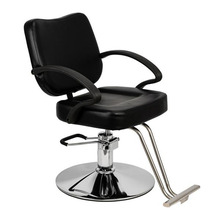 Iron & PVC & Sponge HC106 Woman Barber Chair Hairdressing Chair Black