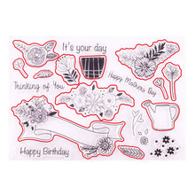 Bouquet Clear Stamps Scrapbook Birthday And Dies for DIY Scrapbooking Embossing Cards Making 2020