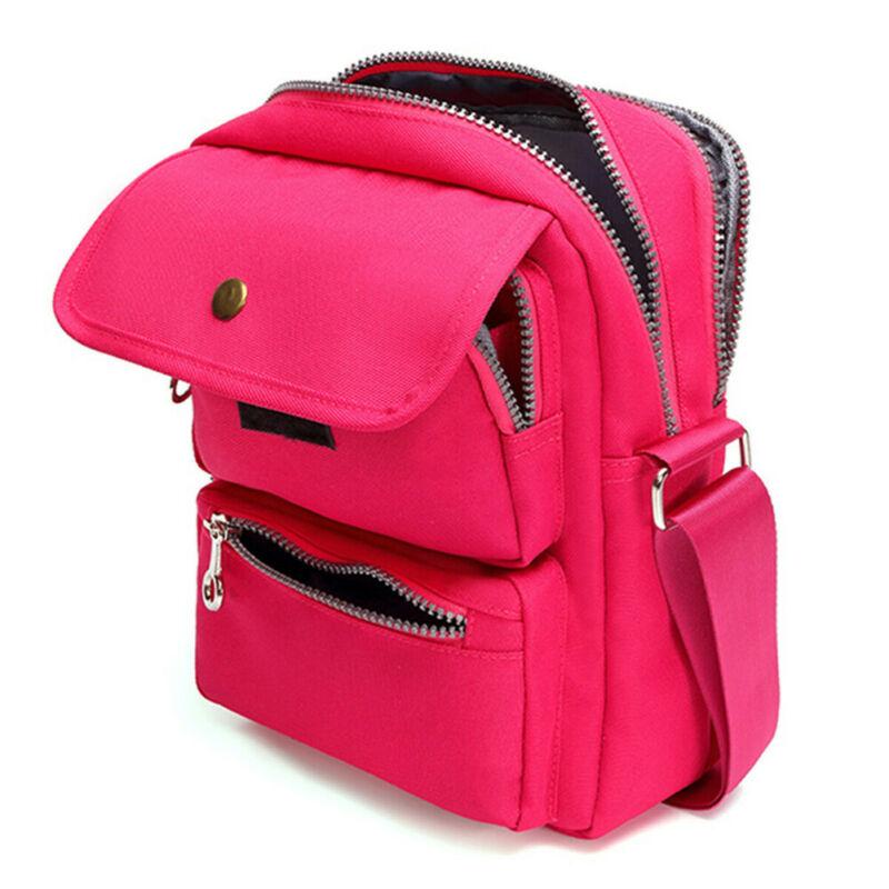 Ladies Bags Women Fashion Solid Zipper Waterproof Nylon Crossbody Shoulder Bag Shoulder Holiday Travel Bag Handbag