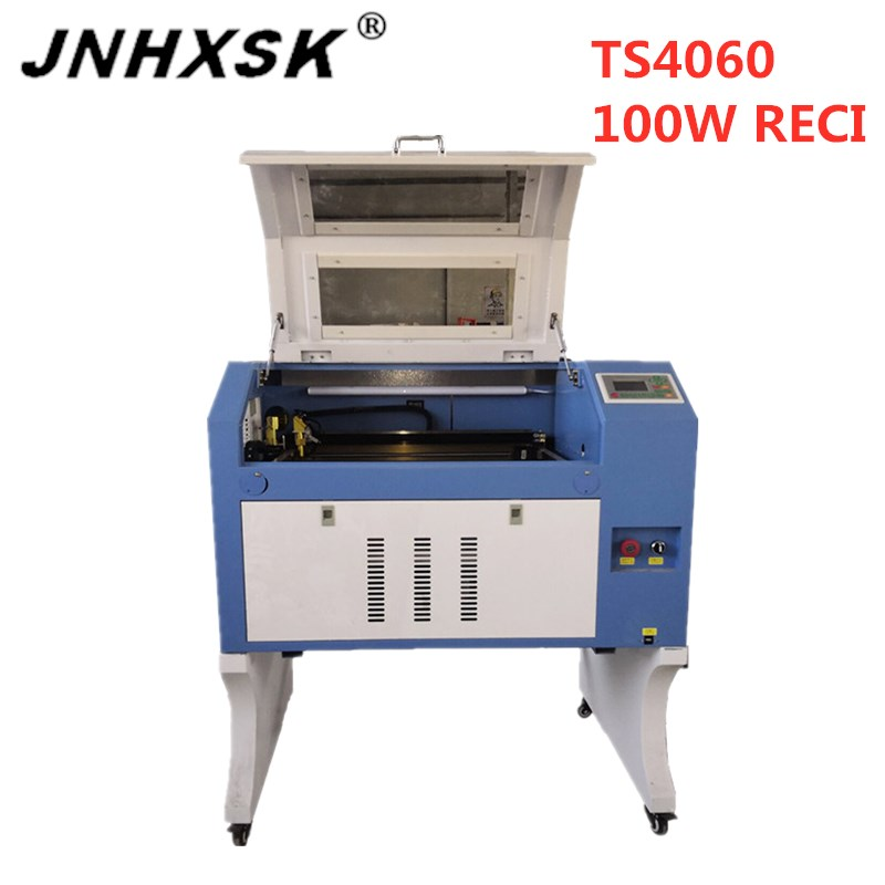 JNHXSK laser engraver <font><b>CO2</b></font> cnc router made in china free shipping 400*600 <font><b>4060</b></font> <font><b>100w</b></font> reci laser engraving cutting machine plywood image