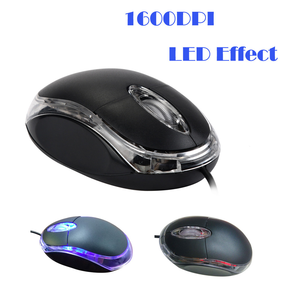 OMESHIN Mini Mouse Wired USB 1200DPI 3 Buttons Optical Gaming Optical Mouse LED Backlight For PC Computer Laptop Office Home Use