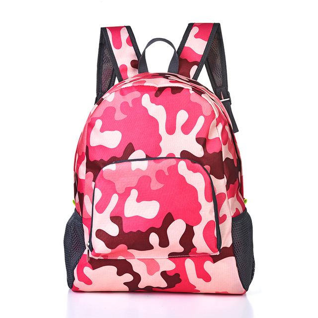 Lightweight Nylon Waterproof Women Backpack For Travel School Bag Camouflage Men's Backpack Foldable Backpack Shoulder Bag