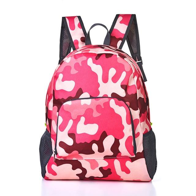 Lightweight Nylon Waterproof Women Backpack For Travel School Bag Camouflage Men's Backpack Foldable Backpack Shoulder Bag