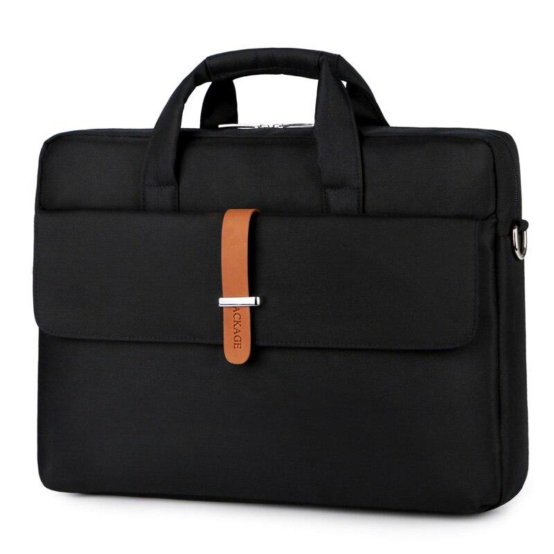 14 pouces étui pour ordinateur Portable Carpetas A4 dossier de fichier Portable fermeture à glissière sac de Document décontracté voyage sac à main ordinateur Airbag bureau d'affaires