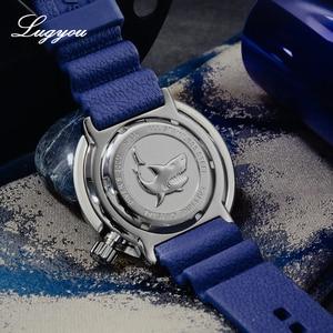 Image 4 - Lugyou San Martin ใหม่ Tuna SBBN015 อัตโนมัติชายนาฬิกาสแตนเลสสตีล 300 M Water Resistant Sun ray dial สร้อยข้อมือโลหะ