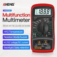 Aneng an8205c profissão multímetro digital ac/dc amperímetro volt ohm tester medidor multimetro com termopar lcd backlight