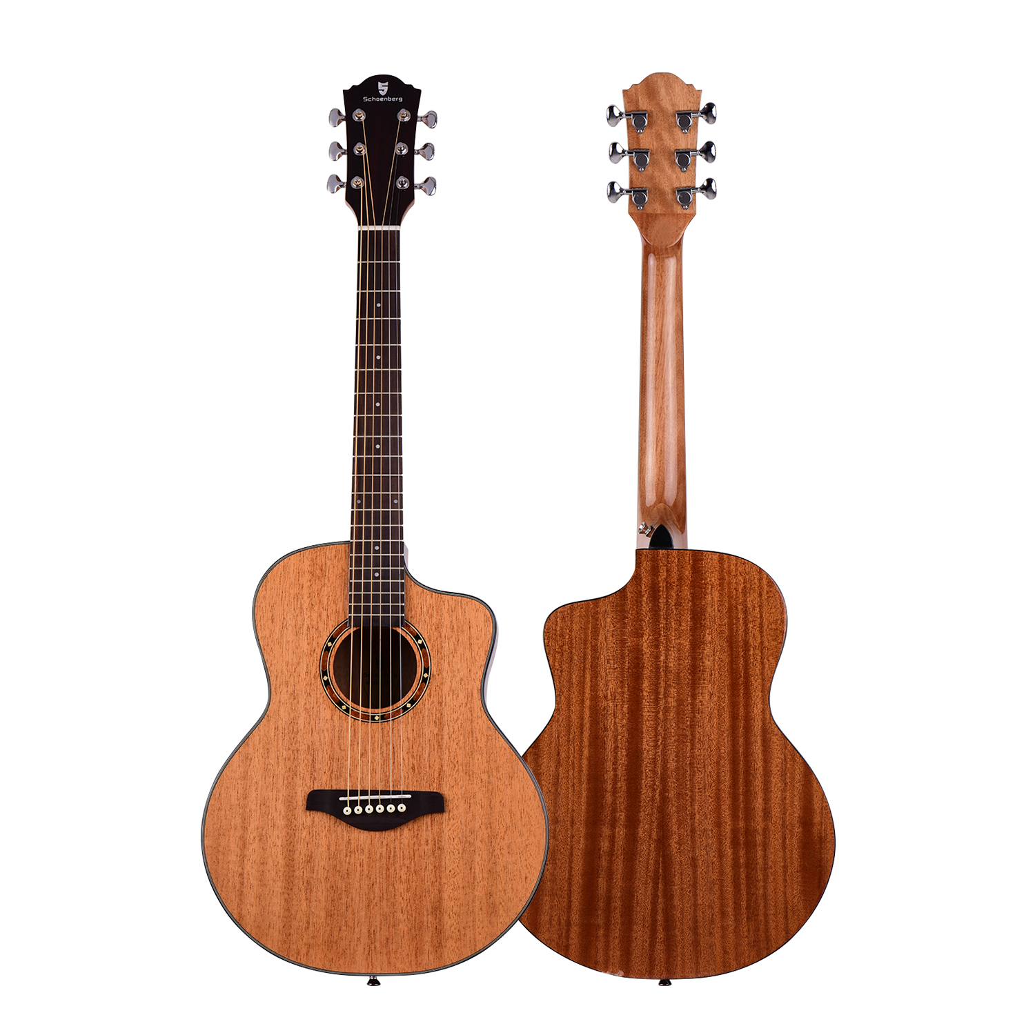 Acoustic <font><b>Guitar</b></font> <font><b>36</b></font> Inch Mahogany Wood Material with Gig Bag Strap Spare Strings Capo Picks <font><b>Guitars</b></font> Kit for Beginners image