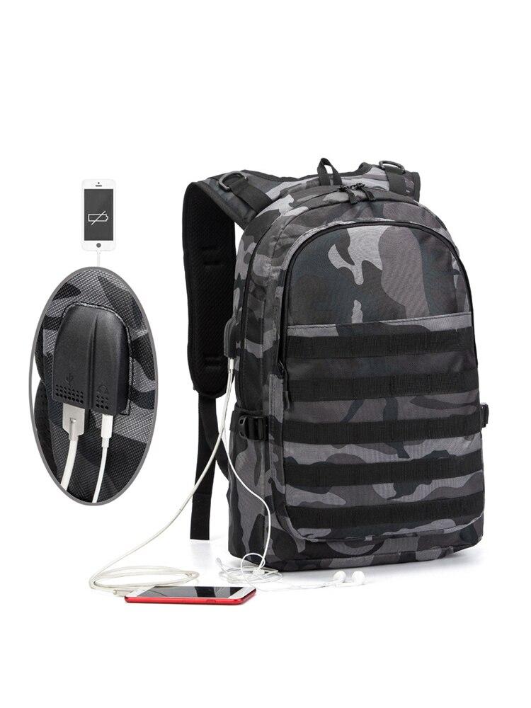 PUBG Backpack Bag Laptop-Bag Schoolbag Infantry-Pack Canvas Travel Camouflage Student