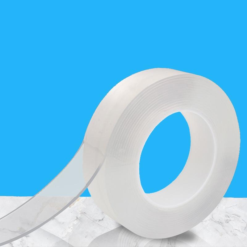 Двухсторонняя лента нано лента без следов прозрачная многоразовая водонепроницаемая клейкая лента Монстр многоразовые Кухонные гаджеты