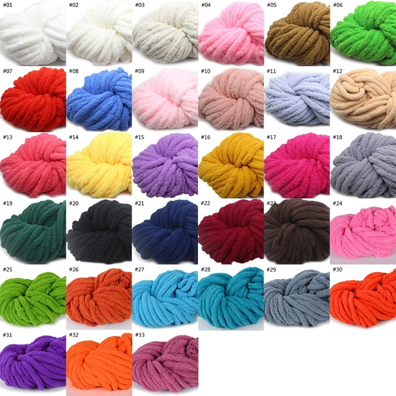 250g Super Soft Warm Chenille Blanket Yarn Handmade Coarse Wool Yarn Knitting DIY Blanket Carpet Scarf Hat Gloves