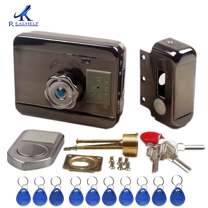 Image 2 - Electronic RFID Door lock Wireless Electric lock for Metal Electric Door Lock 125KHZ RFID Card Lock Keyless Motor door lock-in Electric Lock from Security & Protection