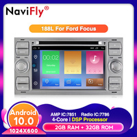 Free shipping Android 10 Car DVD multimedia player For C Max Connect Fiesta Fusion Galaxy Kuga Mondeo S Max Focus RDS