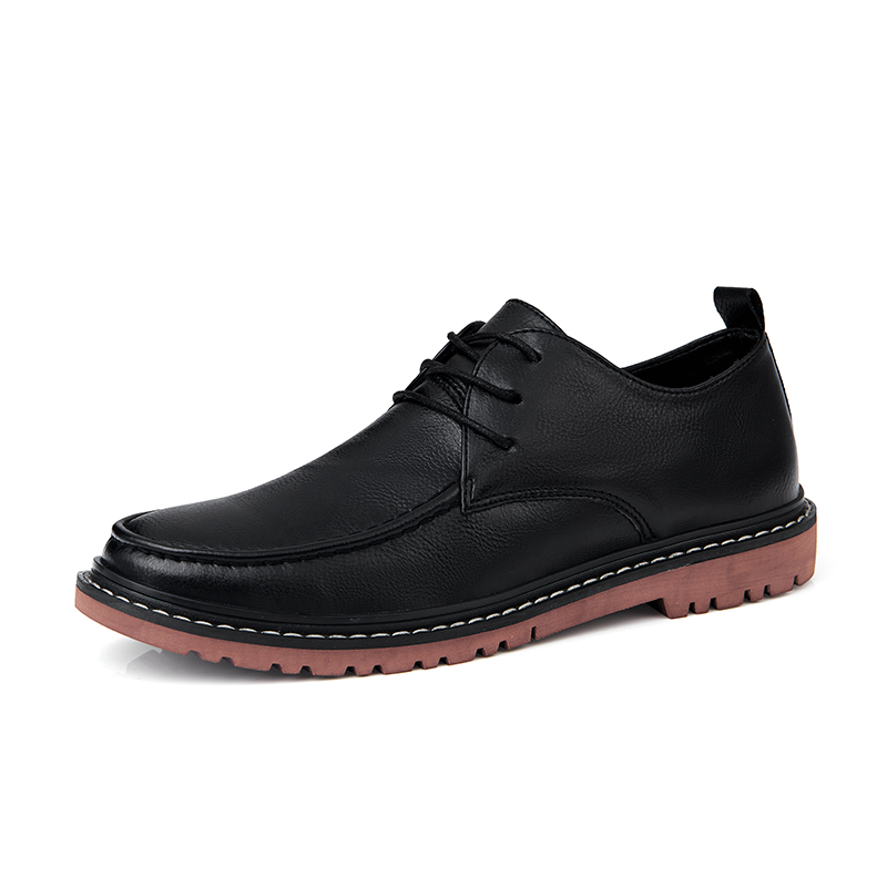 Genuine Leather Bullock Men Shoes British Style Retro Men Oxford Shoes Flats Formal Dress Business Casual Male Boots HC-411