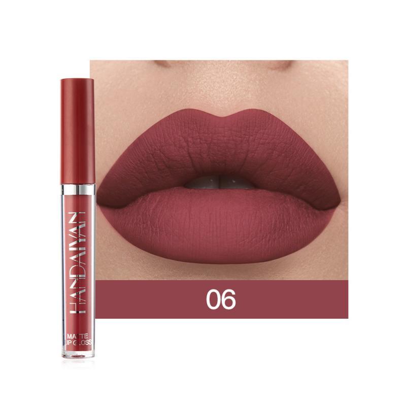 6 Colors/Set Fashion Lip Gloss Sets Natural Moisturize Waterproof Velvet Liquid Lipstick Gift Box Exquisite Lip Makeup TSLM1