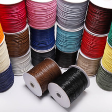 10m/lot leather line cotton Waxed Cotton Cord Waxed Thread Cord String Strap Necklace Rope Bead For Jewelry Making DIY Bracelet tyry hu 10m soft satin nylon multicolor cord solid rope for jewelry making beading cotton cord for baby 2mm diy necklace pendant
