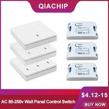 QIACHIP 433 Mhz Universal Wireless Fernbedienung AC 110V 220V 1CH RF Relais Empfänger Modul & 433 Mhz relais Empfänger Schalter Licht