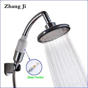Image 1 - Многофункциональная ручная насадка для душа Zhang Ji, 145 мм, большая панель, Распылительная насадка высокого давления, водопад, фильтр для очистки, насадка для душа