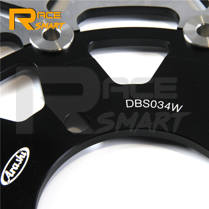 Moto CNC avant et arrière disque de frein pour KAWASAKI ER6F 650 2006 2015 flottant motos frein rotors ER 6F 2013 2014 - 6
