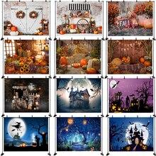 خلفية تصوير الهالوين ، فانوس يقطين ، ضوء ليلي ، قمر ، ديكور حفلات عائلية ، دعائم ، لافتة استوديو صور