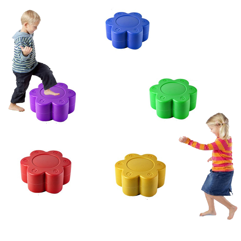 Childrens River Stepping Stones Plum Blossom Pile Kids Balance Sensory Integration Kindergarten Fun Outdoor Games