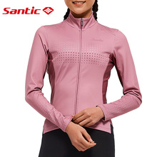 Santic Women's Cycling Jersey Long Sleeve MTB Road Bike Clothing Bicycle Shirts Winter