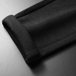 Image 5 - 2019ฤดูใบไม้ร่วงและฤดูหนาวใหม่ผู้ชายหนากางเกงธุรกิจแฟชั่นขั้นสูงยืดถักกางเกงชายแบรนด์เสื้อผ้า