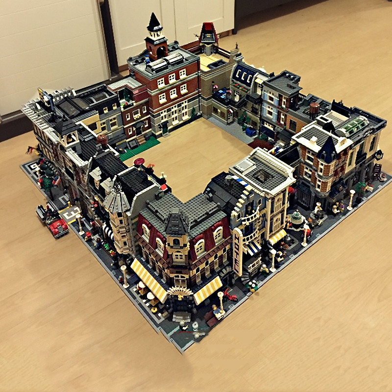 City Street House Creator Expert Bricks 15001 15002 15003 15004 15005 15006 15007 15008 15010 15011 Model Building Block Toys