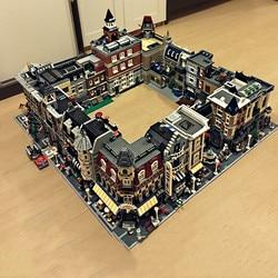 city Street House Creator Expert bricks 15001 15002 15003 15004 15005 15006 15007 15008 15010 15011 Model Building Block toys