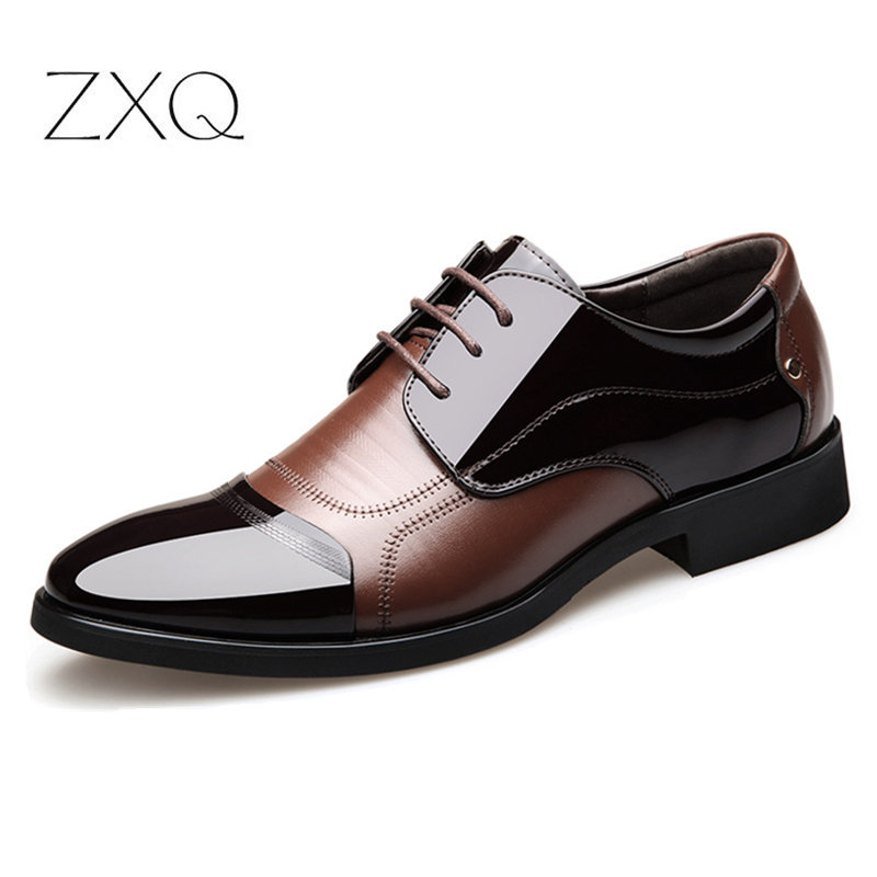 Brand Patent Leather Mens Formal Shoes Dress Shoes Fashion Business Affairs Design Oxford Wedding Shoes
