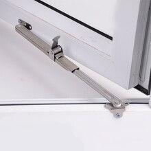 Нержавеющая сталь телескопическая ветровая поддержка окна ограничитель угол контроллер gusset фиксированная раздвижная поддержка двери и окна аксессуары