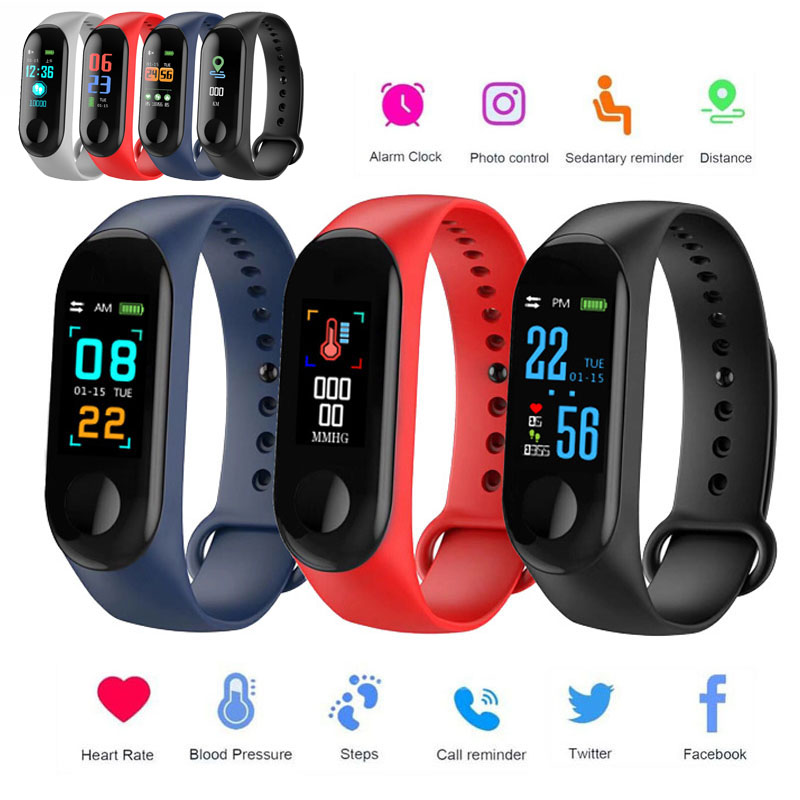 Wristbands-Tracker Fitness Bracelet Oxygen-Heart-Rate-Monitor Blood-Pressure Outdoor