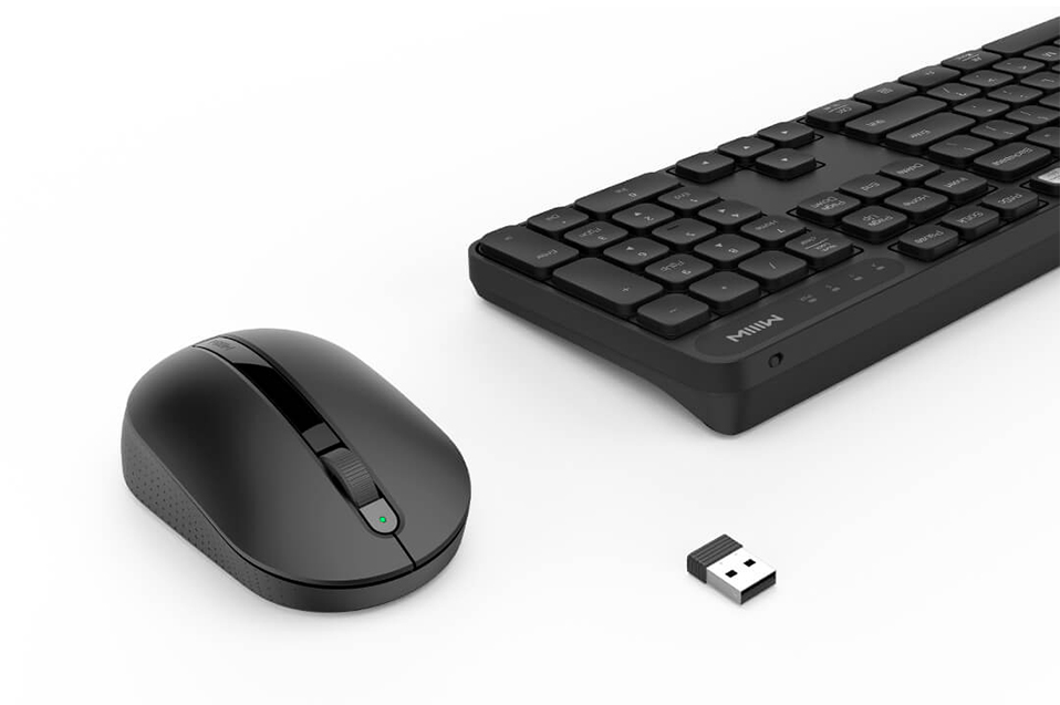 Image 4 - Original Xiaomi MIIIW RF 2.4GHz Wireless Office Keyboard Mouse Set 104 Keys Compatible Portable USB Keyboard For Windows PC Mac-in Keyboards from Computer & Office
