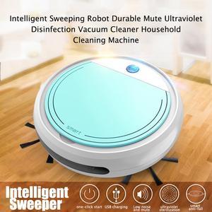 Usb умный робот-пылесос с УФ-стерилизацией, легкая домашняя очистка, дезинфекция, сухая мокрая уборочная машина для пола, уборочная машина дл...