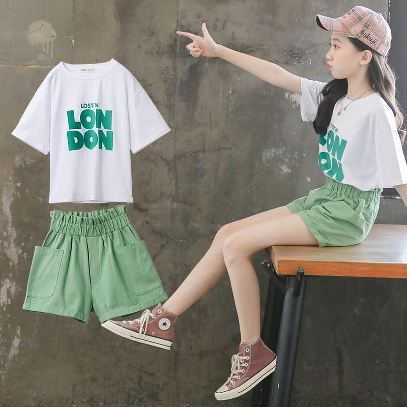 Купить комплект одежды для девочек новинка 2020 модная детская одежда