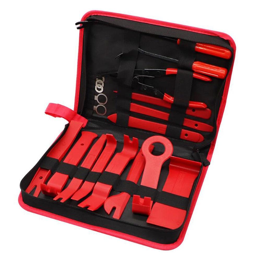 Ferramenta de mão conjunto de ferramentas de desmontagem do carro dvd estéreo reequipamento kits interior plástico guarnição painel painel ferramentas de reparação remoção