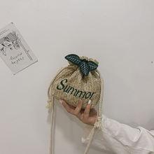 Соломенные богемные сумки для женщин Пляжная плетеная Сумка