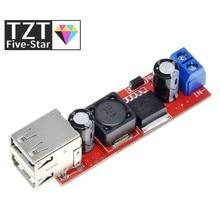 Tzt dc 6v-40v para 5v 3a dupla usb carga DC-DC conversor step-down módulo para carregador de veículo lm2596 duplo usb