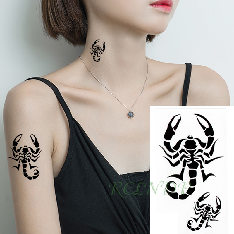 Waterproof Temporary Tattoo Sticker Scorpion Bird Small Tatto Flash Tatoo Fake Tattoos Hand Leg Arm For Kids Men Women Child