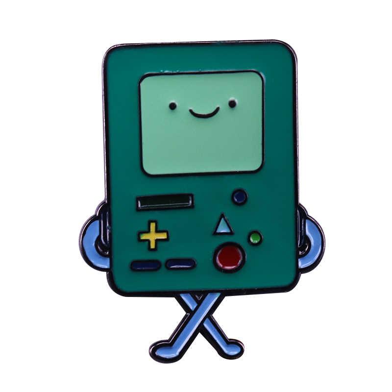 הרפתקאות זמן Bmo אמייל פין Nintendo וידאו משחק סיכת gameboy בקר תג חמוד קריקטורה כובע תרמיל דקור
