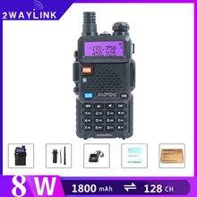 Baofeng UV 5R Walkie Talkie do radia myśliwskiego VHF UHF walkie talkie 10km nadajnik FM uv5r Radio przenośne do Baofeng 5W 8W