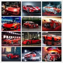 Shayi diy 5d алмазная картина спортивный автомобиль пейзаж мозаика
