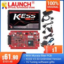 KESS V2 V5.017 كامل على الانترنت V2.53 مدير ضبط عدة KTAG V7.020 4 LED ماستر K tag V2.25 KESS BDM التيتانيوم Winols ECU مبرمج