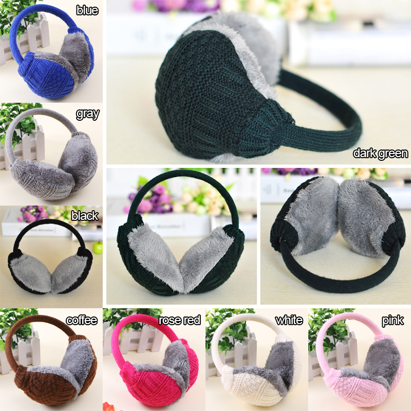 1 X Plush Winter Ear Warmers Thermal Earmuffs Winter Earmuffs Unisex Ear Muffs Cover Knitted Plush Winter Ear Warmers Unisex