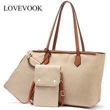 LOVEVOOK women shoulder bag large Tote bag canvas small crossbody bag for mobile phone female purse and clutch for ladies 2019(China)