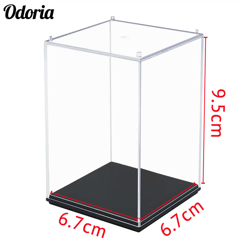 Odoria Acrylic/Plastic Display Case Box 10 cm H Perspex Clear Dustproof Protection UV For Action Figure Models Collectibles