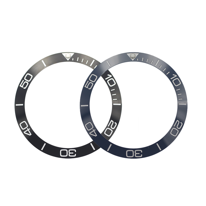 New 38mm High Quality Black/Blue Ceramic Bezel Inserts For Sub Divers Men's Watches Replace Accessories
